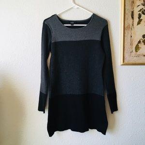 AGB cute color block sweater